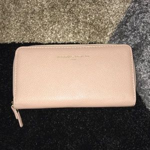 Coral pink wallet from Adrienne Vittadini